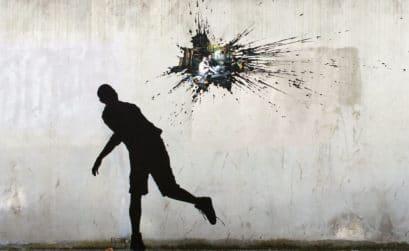 Grafiti del artista Pejac