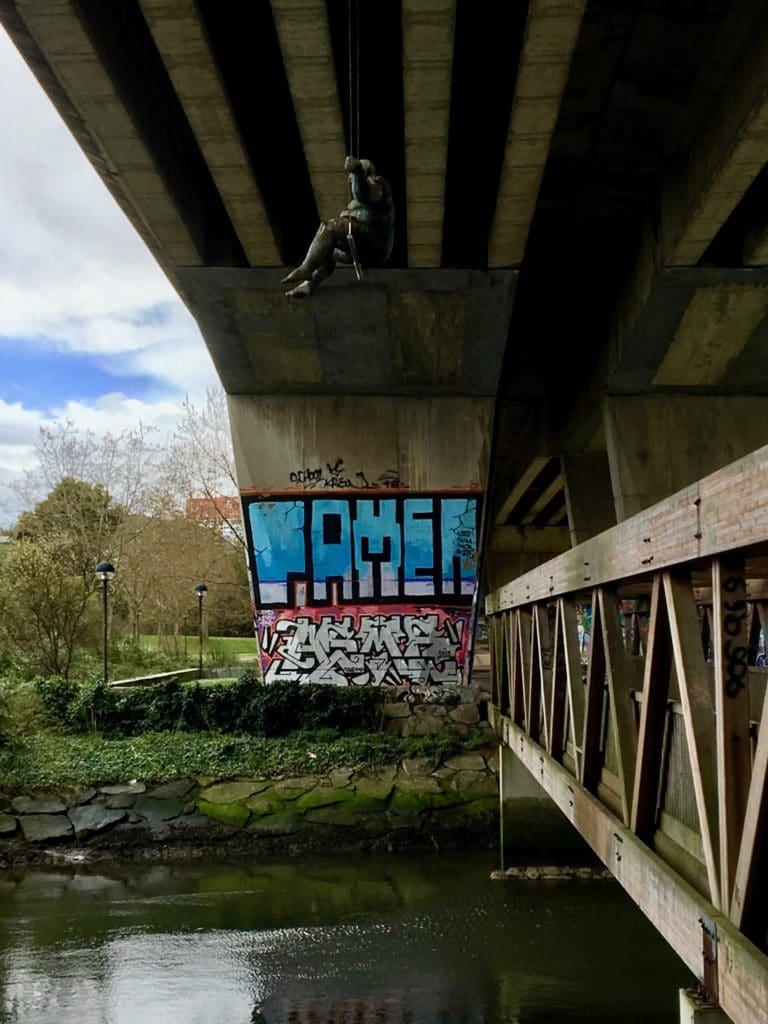Grafiti en Cambre, A Coruña.