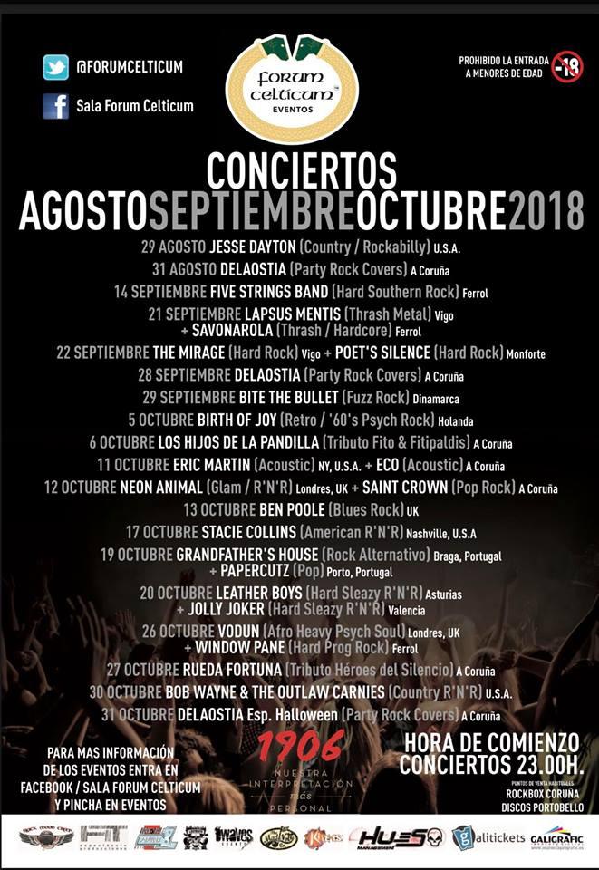 Salas de conciertos Forum Celticum Culleredo Coruña