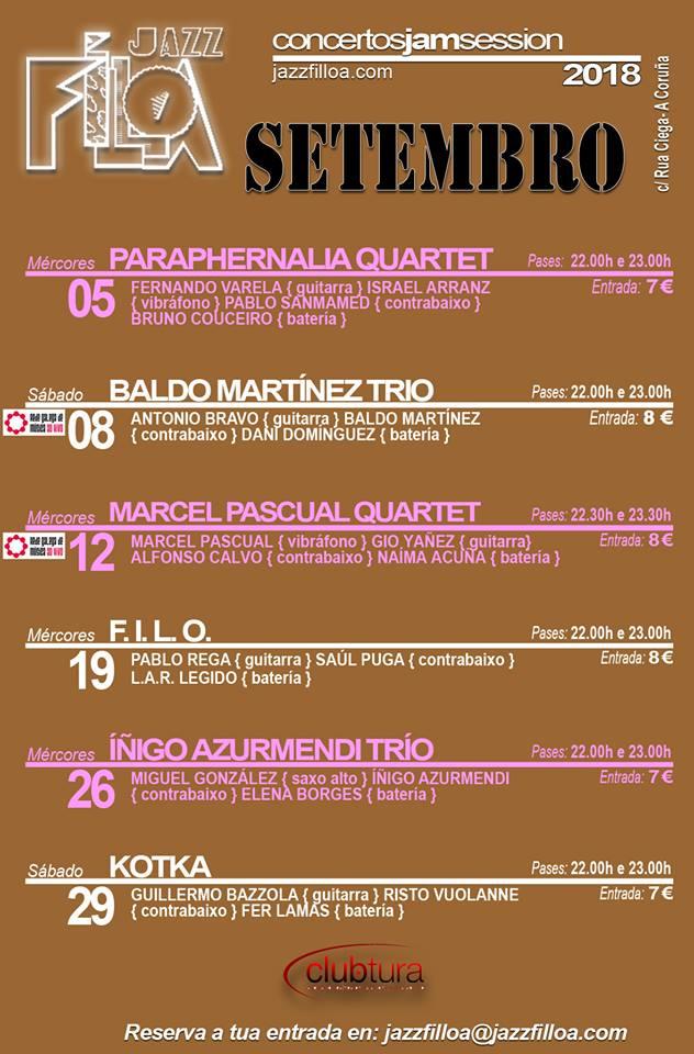 Salas de conciertos A Coruña JazzFiloa