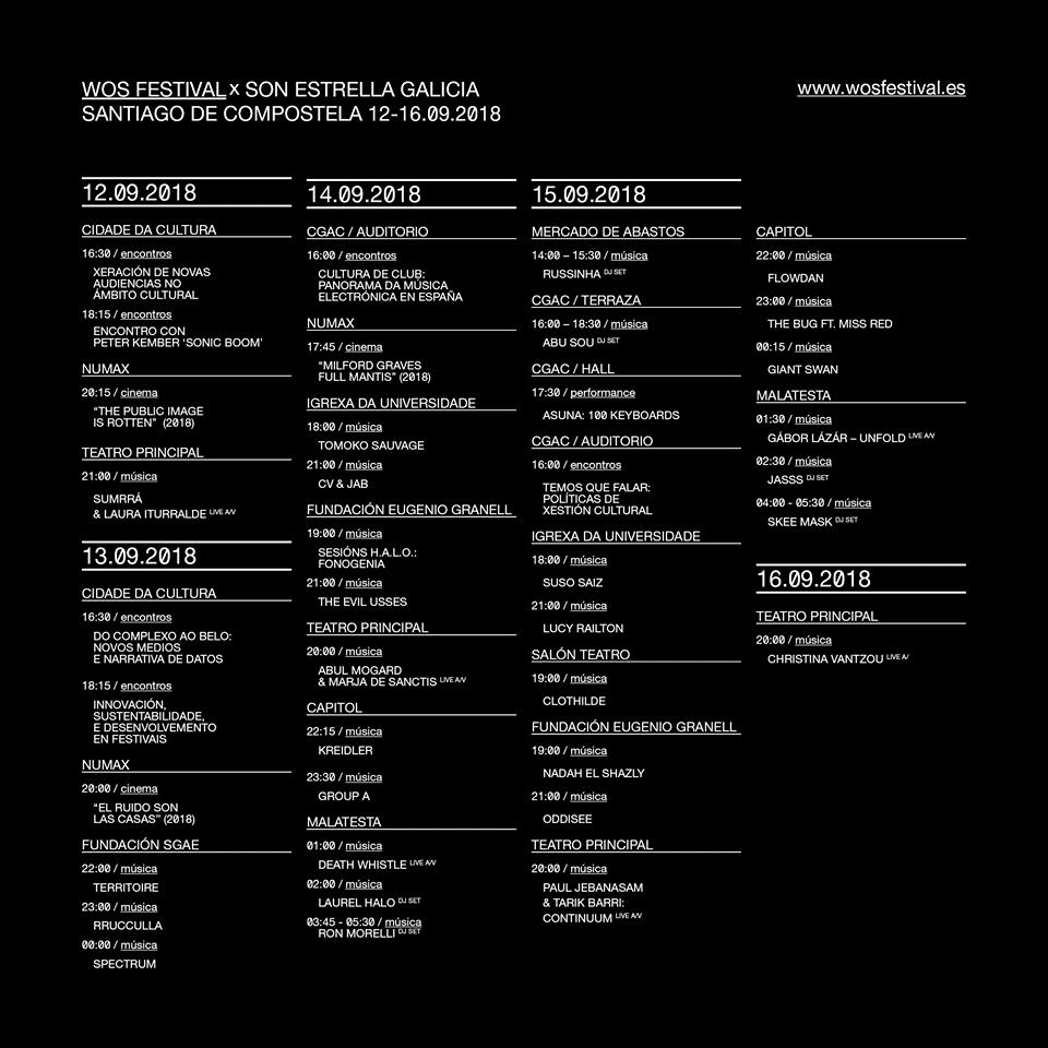WOS Festival programa 2018