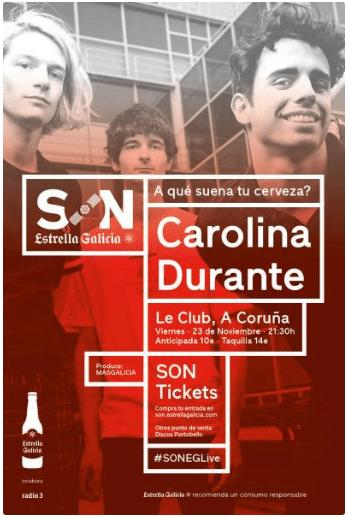 agenda del finde Coruña Carolina Durante