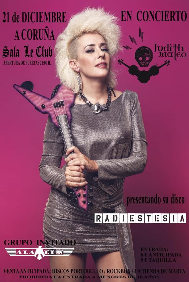 agenda de conciertos de Coruña Judith Mateo