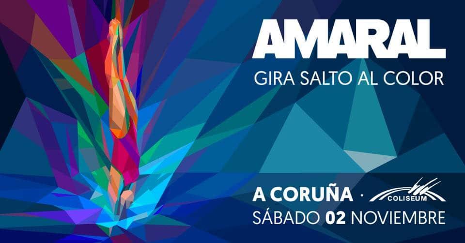 Cartel del concierto de Amaral en la agenda de Coruña en noviembre 2019