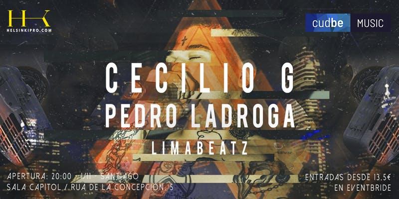 Cartel concierto de Cecilio G en la sala capitol en la agenda de Santiago en noviembre 2019