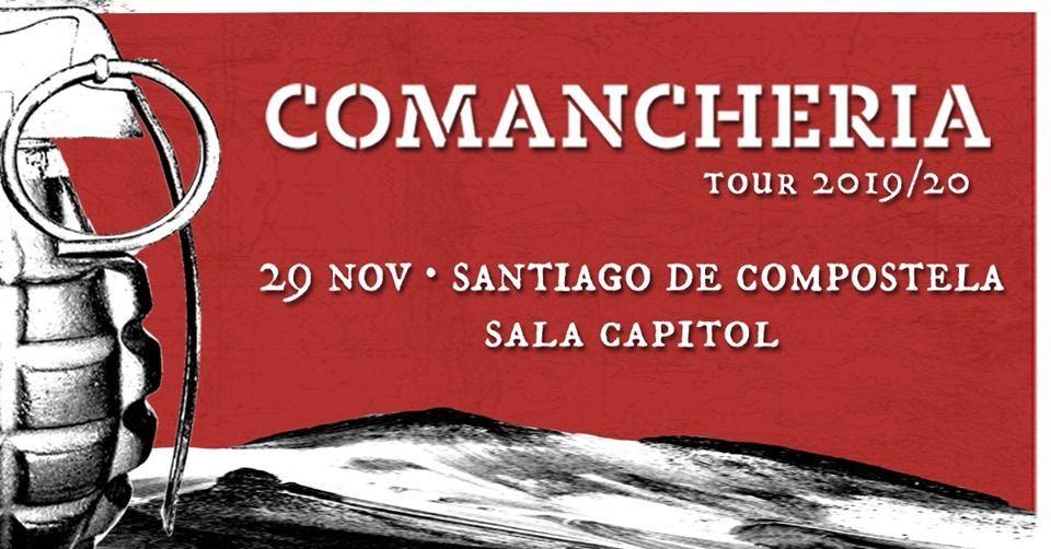 Cartel del concierto de Los Chicos del Maíz dentro de la agenda de Santiago en noviembre 2019