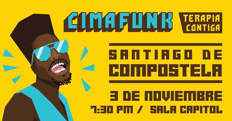 Cartel del concierto de Cimafunk en la sala Capitol dentro de la agenda de Santiago en noviembre 2019