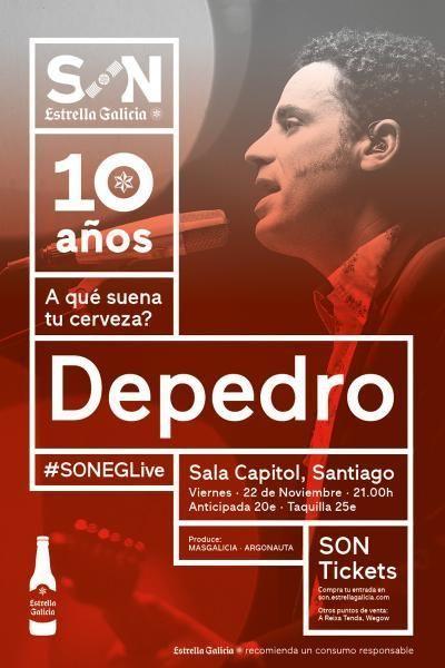 Cartel del concierto de Depedro en la agenda de Santiago en noviembre 2019