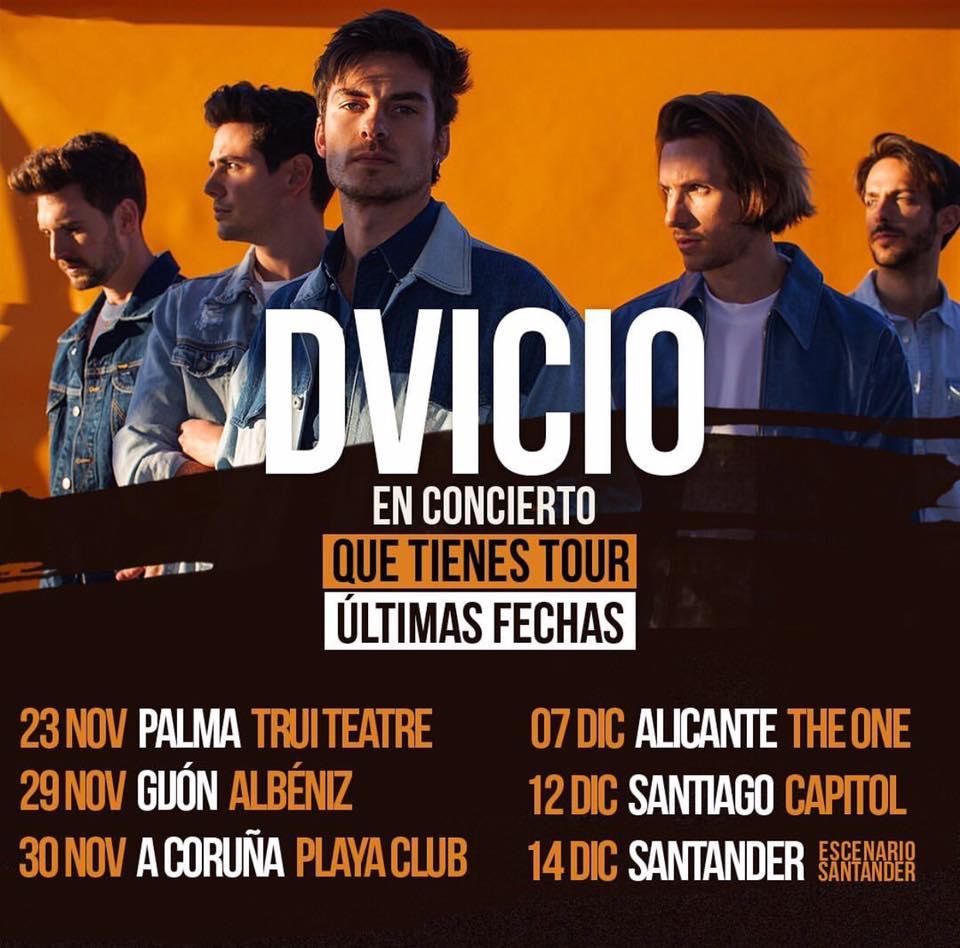 Cartel de la gira Dvicio en la agenda de Coruña en noviembre 2019