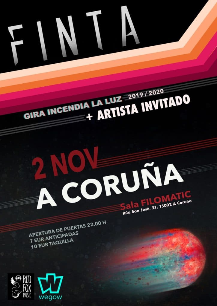 Cartel de Finta en la agenda de Coruña de noviembre 2019