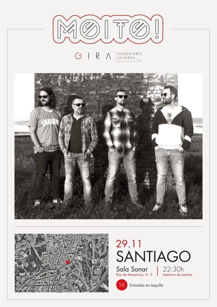 Cartel del concierto de Moito! dentro de la agenda de Santiago en noviembre 2019