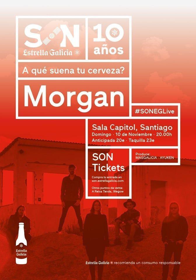 Cartel concierto de Morgan en la agenda de Santiago en noviembre 2019