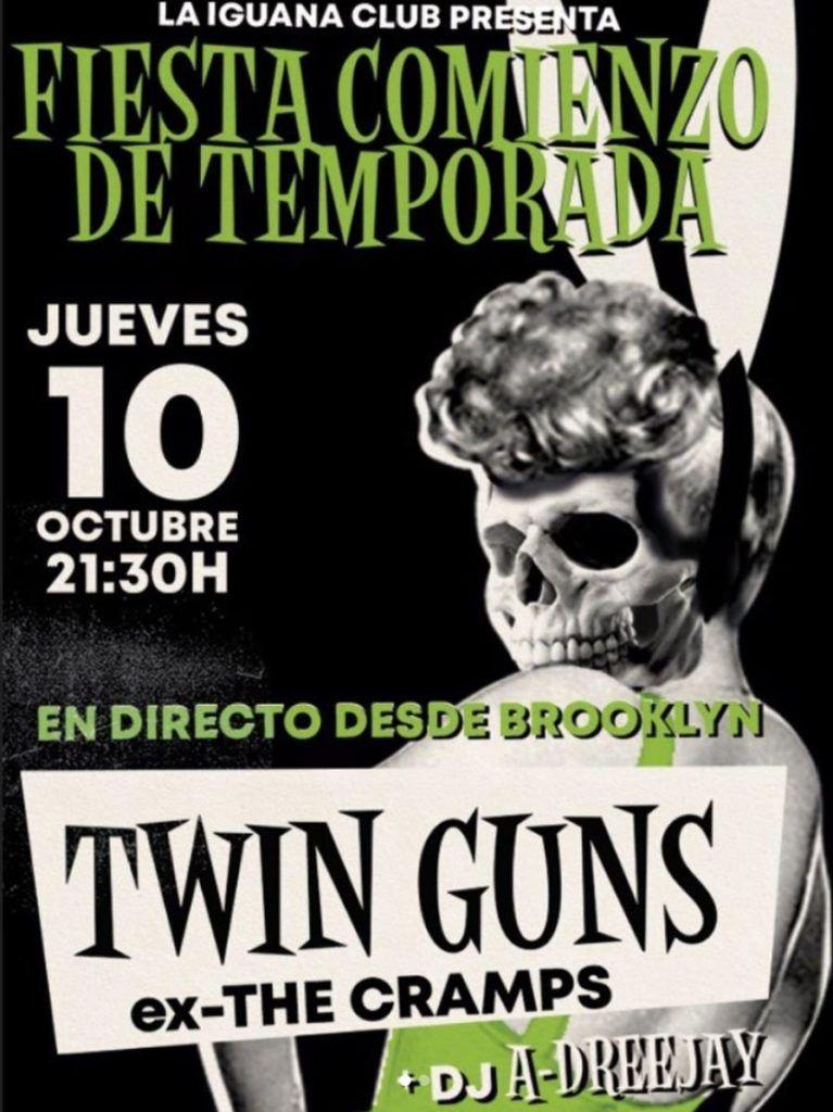 Cartel Twin Guns en la agenda de Vigo en octubre 2019