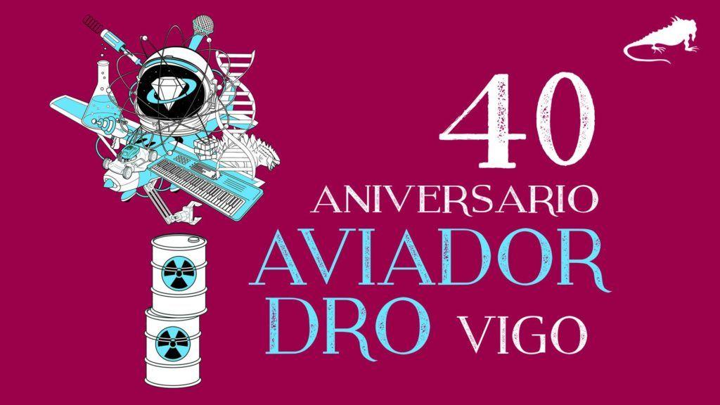 Cartel del concierto de Aviador Dro el sábado 16 en la Iguana Club, Vigo.