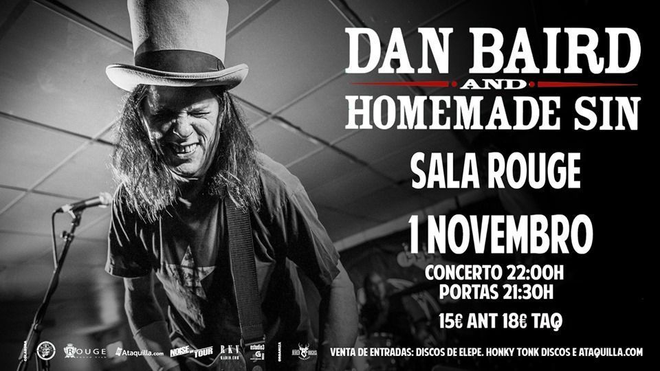 Dan Baird en concierto en la agenda de Vigo en noviembre 2019