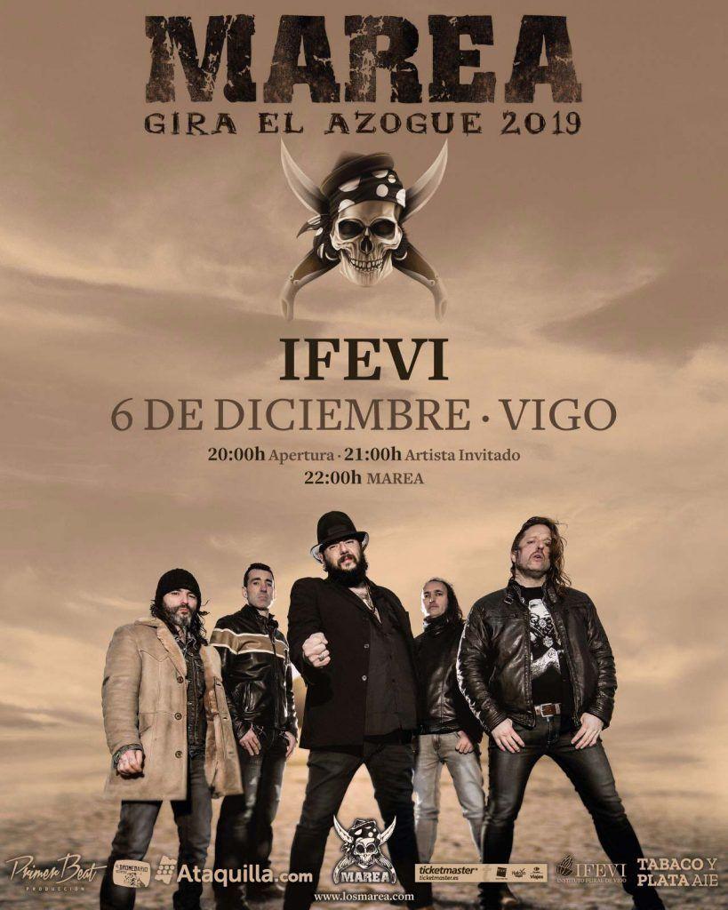 Agenda de Vigo en diciembre 2019. Cartel del concierto de Marea.