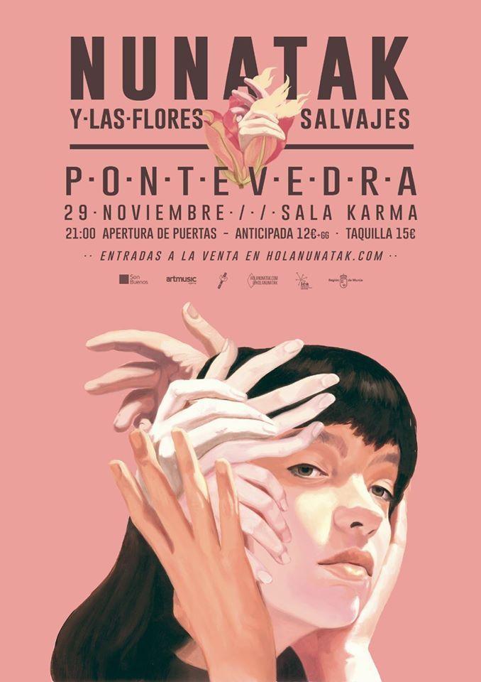 Cartel del concierto de Nunatak el viernes 29 en la agenda de Pontevedra en noviembre 2019