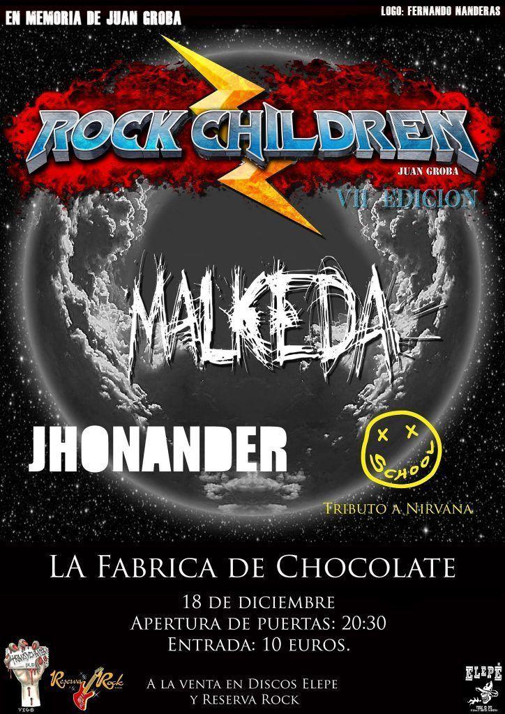 Agenda de Vigo en diciembre 2019. Cartel del festival Rock Children