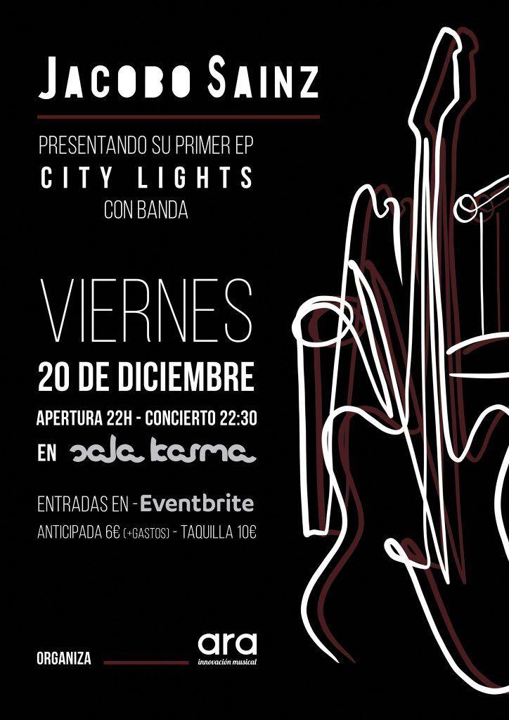 Jacobo Sainz en concierto en la Sala Karma. Agenda de Pontevedra en diciembre 2019.