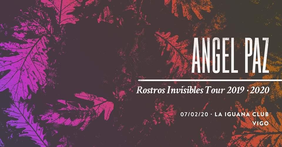 Cartel del concierto de Ángel Paz el 7 de febrero en la Iguana Club