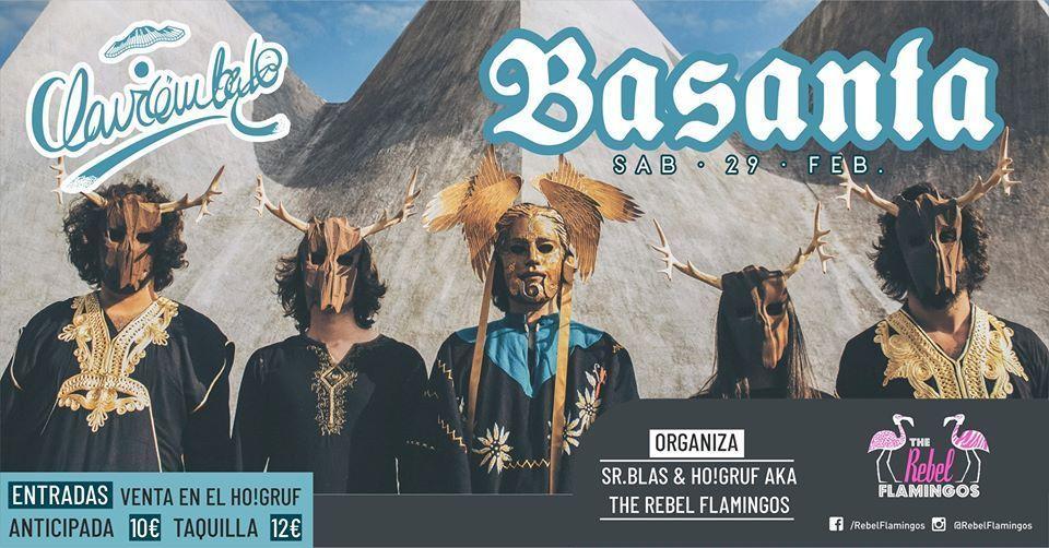 Cartel del concierto de Basanta el sábado 29 de febrero en el Clavicémbalo