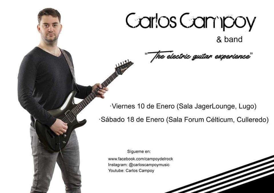 Concierto de Carlos Campoy el viernes 10 en la Jager de Lugo. Agenda de Lugo en enero 2020.