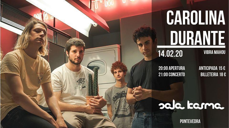 Cartel del concierto de Carolina Durante el viernes 14 de febrero en la Sala Karma