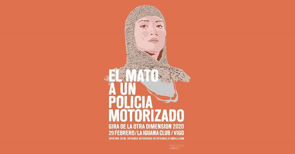 Cartel del concierto de Él Mató A Un Policía Motorizado
