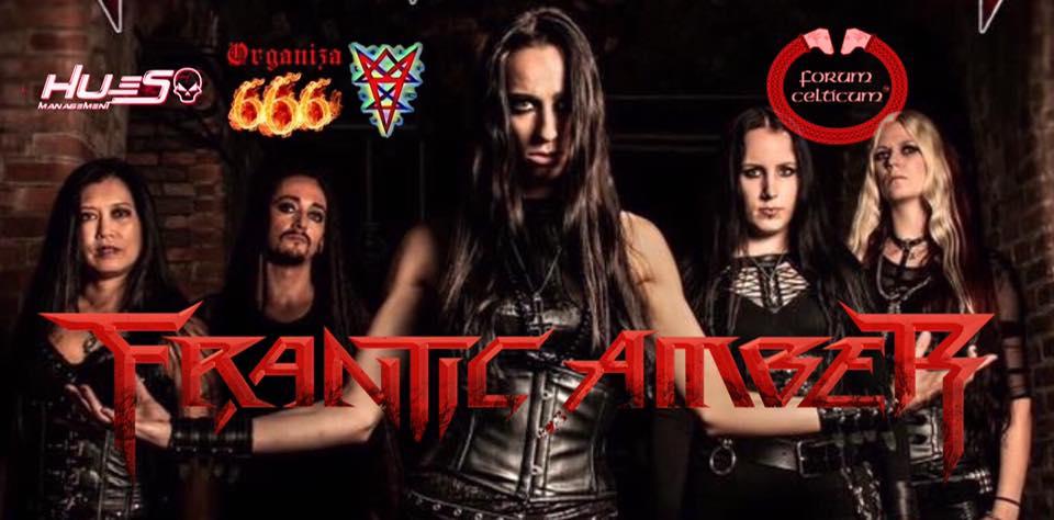 Foto de la formación de Frantic Amber, grupo de Death Metal que actuará en el Forum el 14 de febrero.