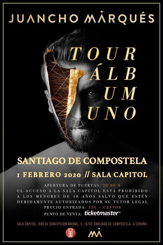 Cartel del concierto de Juancho Marqués en la Capitol el sábado 1 de febrero.