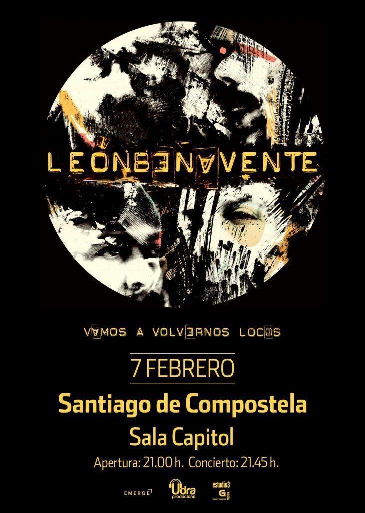 Cartel del concierto de León Benavente en la Sala Capitol el viernes 7 de febrero.