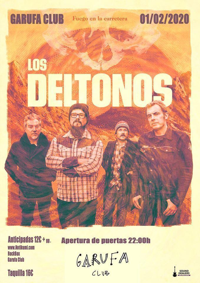 Cartel del concierto de Los Deltonos en el Garufa el sábado 1 de febrero.