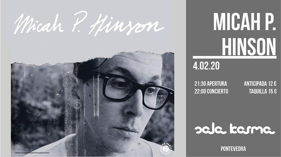 Cartel del concierto de Micah P. Hinson en la sala karma el 4 de febrero.