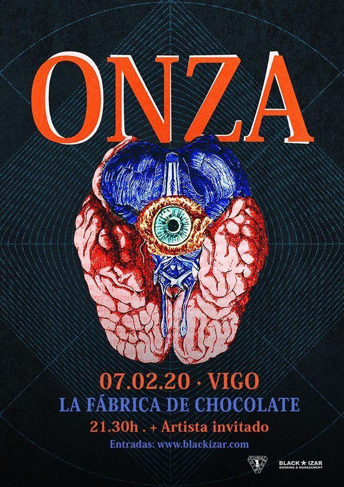 Cartel del concierto de Onza en la Fábrica de Chocolate el 7 de febrero.