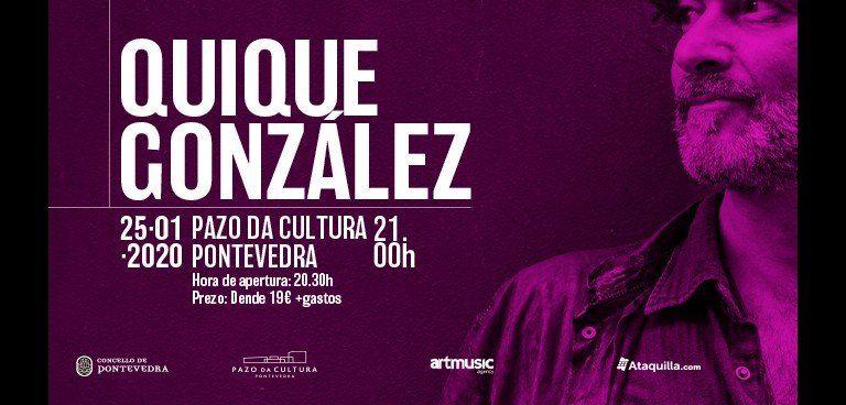 Cartel del concierto de Quique González en el Pazo da Cultura de Pontevedra el sábado 25.