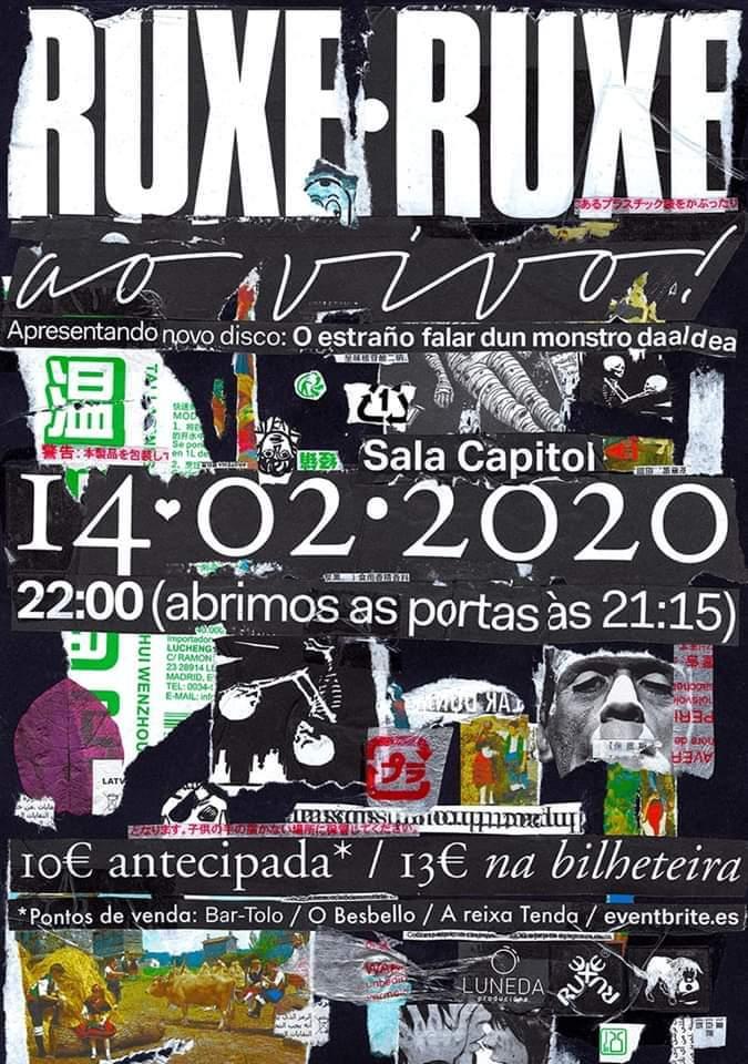 Cartel del concierto de Ruxe Ruxe en la Sala Capitol el viernes 14 de febrero.