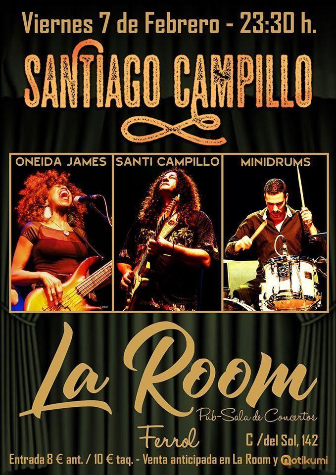 Cartel del concierto de Santiago Campillo en La Room el viernes 7 de febrero.