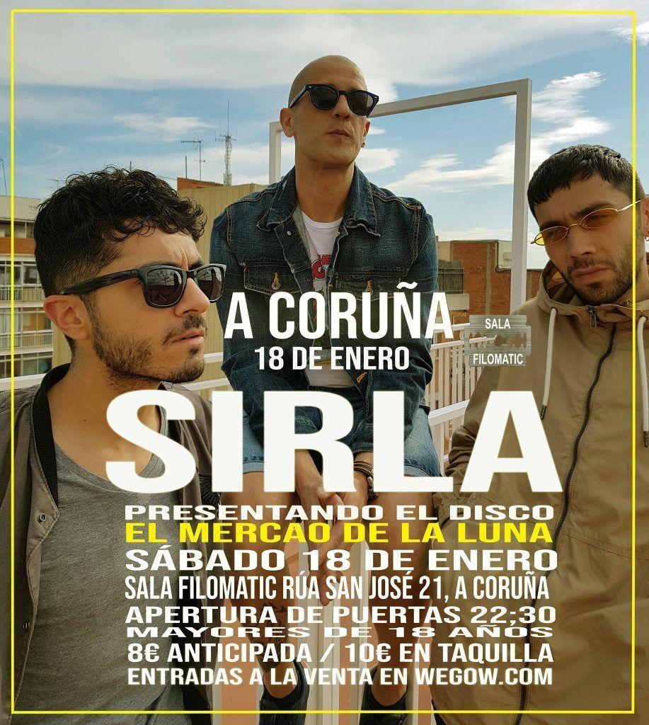 Concierto de Sirla el sábado 18 en la Filomatic. Agenda de Coruña en enero 2020.