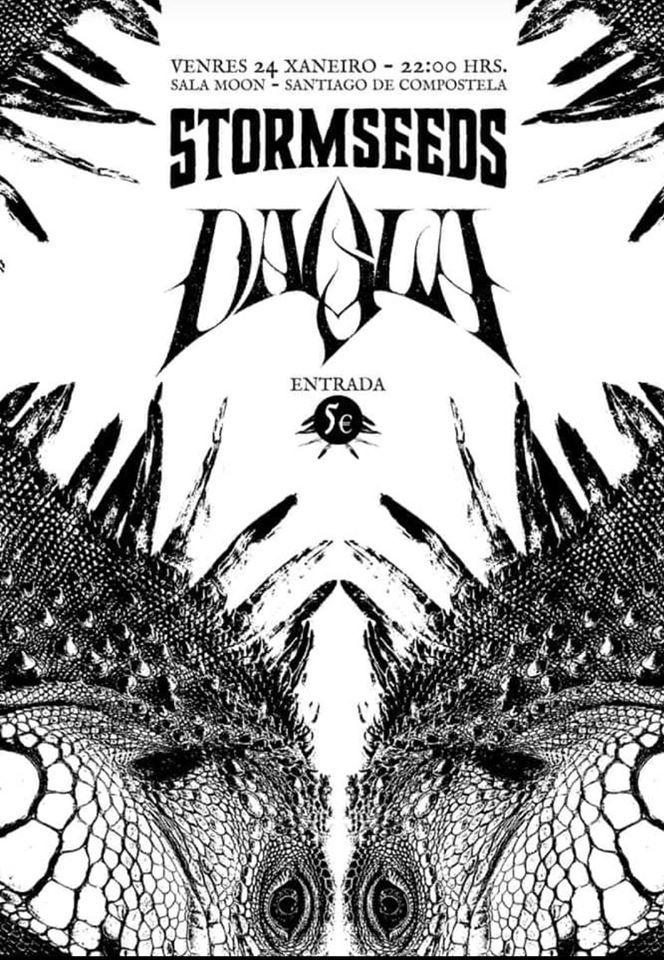 Cartel del concierto de Stormseeds y Dalia el viernes 24 en la Sala Moon.