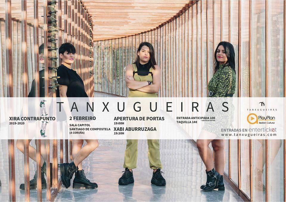 Cartel del concierto de Tanxugueiras el domingo 2 de febrero en la Capitol.