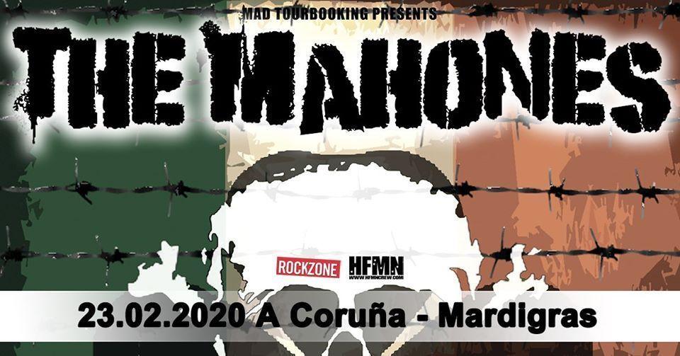 Foto del cartel del concierto de The Mahones en la Mardi Gras el domingo 23