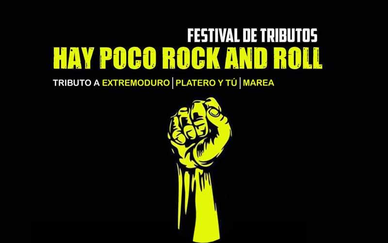 Cartel del festival de tributos Hay Poco Rock And Roll, que se celebra en el Playa Club el viernes 21