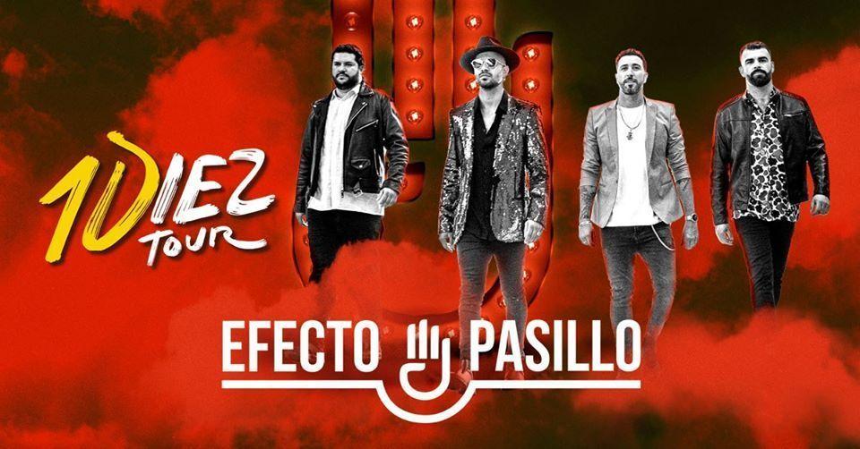 Cartel de la gira 10iez de Efecto Pasillo que estará en viernes 27 en la Sala Sónar.