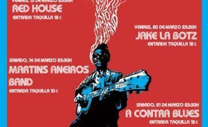 Cartel del Festiblues VI que se celebra en marzo en Lugo.