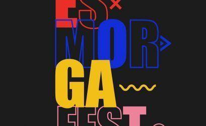 Logo del Esmorga Fest. El festival de música que se celebra en Sarria, Lugo el 13 y 14 de marzo.