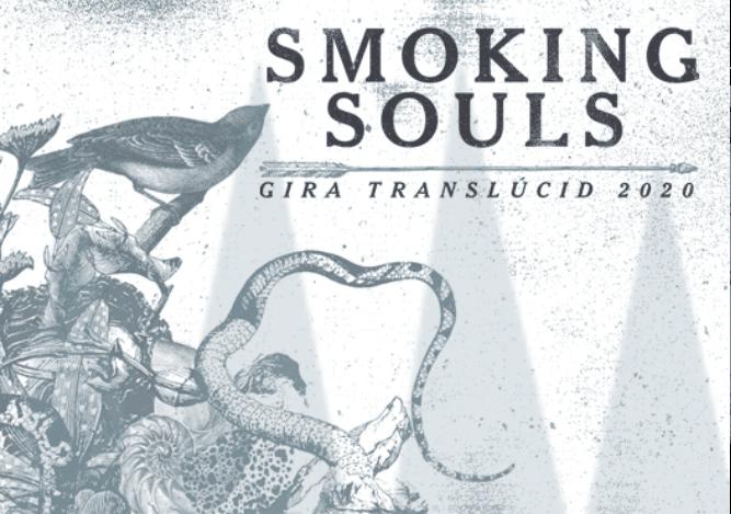 Cartel de la gira de Smoking Souls. Actúan en Santiago de Compostela el sábado 14 en la Sala Malatesta.