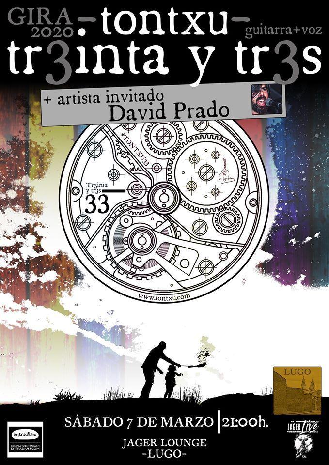Cartel del concierto Tontxu en el Jagerlounge el sábado 7 de marzo.