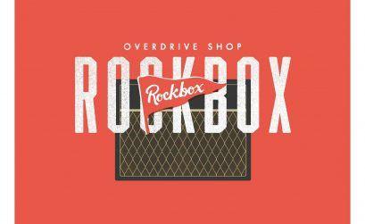 Logo oficial de la tienda de instrumentos Rockbox Overdrive Shop, en A Coruña