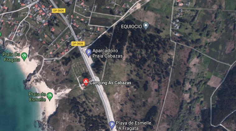 Captura de pantalla de Google Maps que muestra la ubicación del Nachiños Fest.