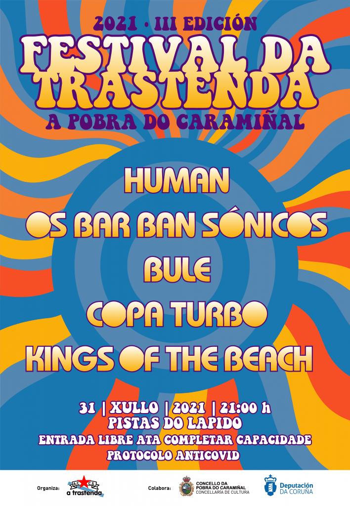 Cartel do Festival da Trastenda 2021.